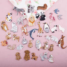 Many Small Animal Patch Embroidered Patches For Clothing Iron On Close Shoes Bags Badges Embroidery