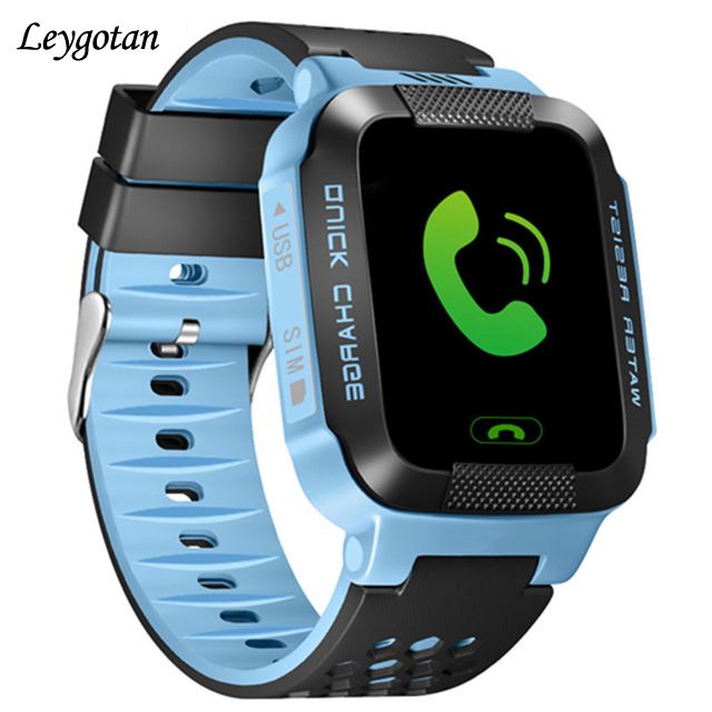 Kids smart GPS watch baby Watch Flashlight SOS GPS Call answer Dial Tracker for Child Safe Anti-Lost Monitor wearable Device