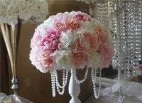 SPR НОВАЯ Бесплатная доставка! свадебный этап арки искусственный цветок мяч penoy роуз свадебный стол центральным идеи фон украшения