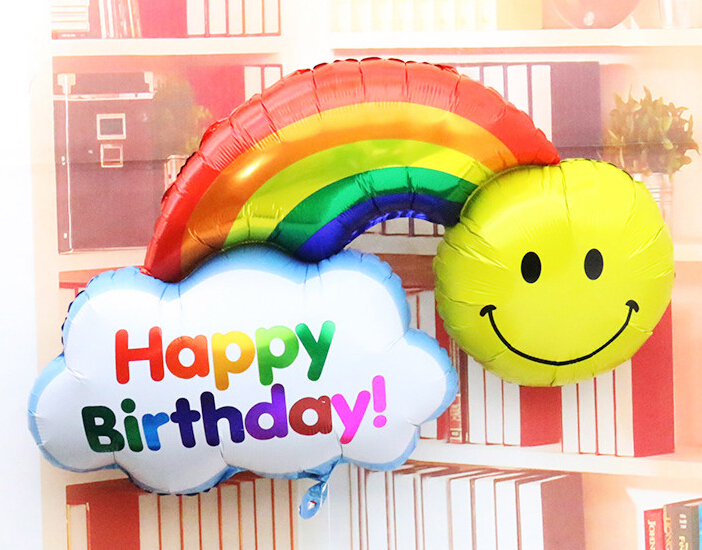 Wedding Invitations Invitations Decoration 1pcs New Birthday Balloons Clouds&rai