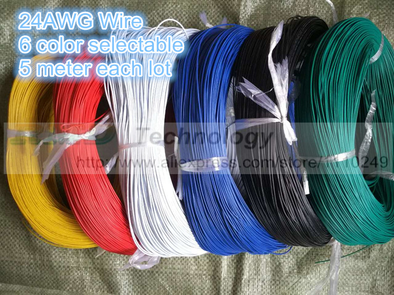 Do It Yourself Home Design: 5 Metres/lot Super Flexible 24AWG PVC Insulated Wire