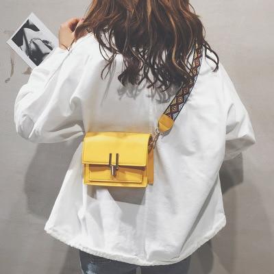 High Quality Pu Female Bag Women Shoulder Bags Women's Handbags Clutch Evening Bags Messenger Bag Small Wide Shoulder Strap