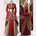 Заказ игра престолов королева Cersei Lannister красный роскошный костюм для взрослых женщин карнавал танец ну вечеринку косплей костюм