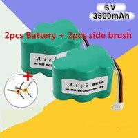 2 Pcs 6V 3500mAh Ecovacs Deebot Cleaner Battery For Ecovacs Deebot Deepoo CEN530 TBD71 620 630