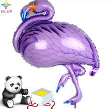 89*69cm Purple Flamingo Foil Balloons Wedding Decorations Helium Birthday Inflatable Toys Air Balls Party Supplies