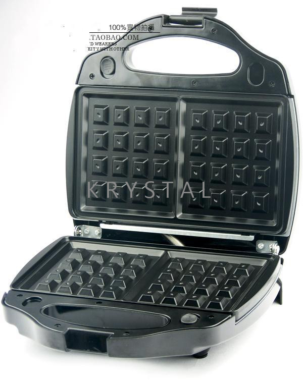 Máquina eléctrica para hacer waffles/sándwiches, máquina para hacer gofres DIY, máquina de gofres pequeña de 220V para Cocina - 2