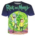 Rick and Morty Galaxy 3D Print Crewneck T-Shirt Women Men Summer Style t shirt Space Nebula tees Cartoon  tops Plus Size