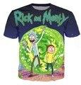 Rick y Morty Galaxy 3D de Impresión Cuello Redondo Camiseta Hombres de Las Mujeres Estilo del verano t shirt Espacio Nebulosa tees Cartoon tops Plus tamaño