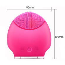Mini Electric Facial Massage Brush Cleaner Silicone Waterproof Ultrasonic Instrument Facial Spa Massager Beauty Tool Device