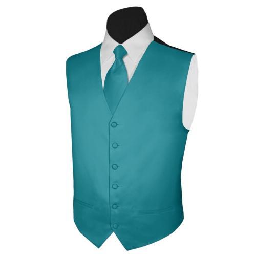 New Fashion Teal Vests Custom Made Mens Slim Fit Waistcoat W33