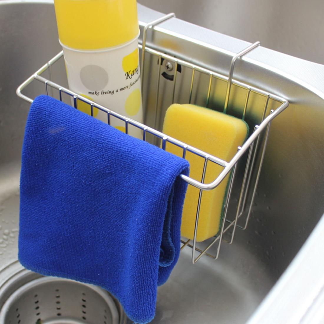 HIPSTEEN hordozható mosogató lógó tartó tároló doboz szűrő Fürdőszoba szappan tárolás Otthon konyha csaptelep csaptelep Sponge Rack