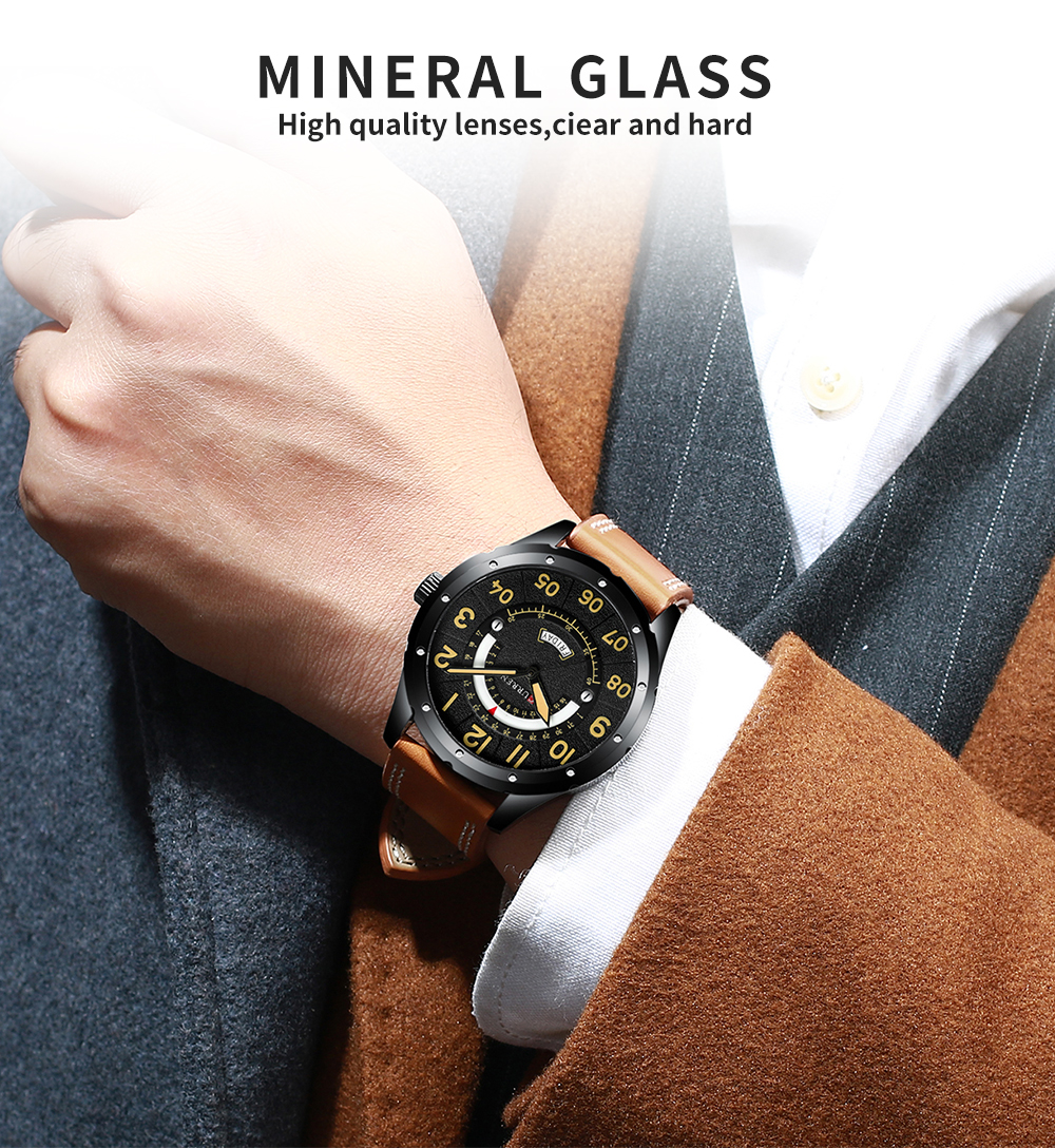 HTB1IsFtauL2gK0jSZFmq6A7iXXaA CURREN Date Mens Watches Luxury Sport Watch