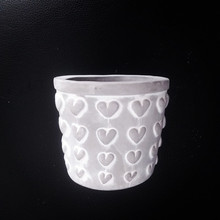 Mini Heart Pattern Planter Silicone Mold for Concrete DIY Gardening flowerpot Cement Mould