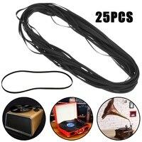 Kinco 25Pcs 380mm Turntable Phono Replacement Belt Rubber Plattenspieler Belt 121x5x0 6mm Movement Belt For LP