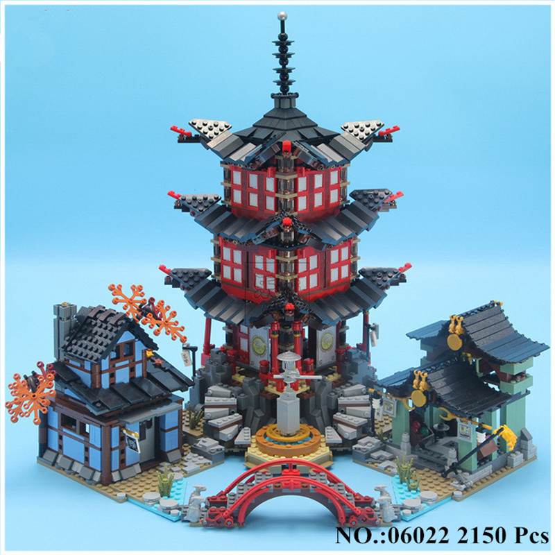 IN-STOCK H&HXY 06022 2150Pcs Ninja Temple of Airjitzu Jay Kai Cole Building Block Compatible 70751 Bricks Toys Gifts lepin [yamala] 15pcs lot compatible legoinglys ninjagoingly cole kai jay lloyd nya skylor zane pythor chen building blocks ninja toys