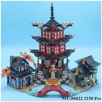 IN STOCK LEPIN 06022 2150Pcs Ninja Temple Of Airjitzu Jay Kai Cole Building Block Compatible 70751