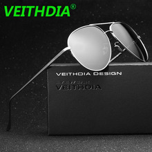 VEITHDIA Brand LOGO Original Driving Male oculos de sol Eyewear Accessories Mirror UV400 Glasses Polarized Sunglasses For Men