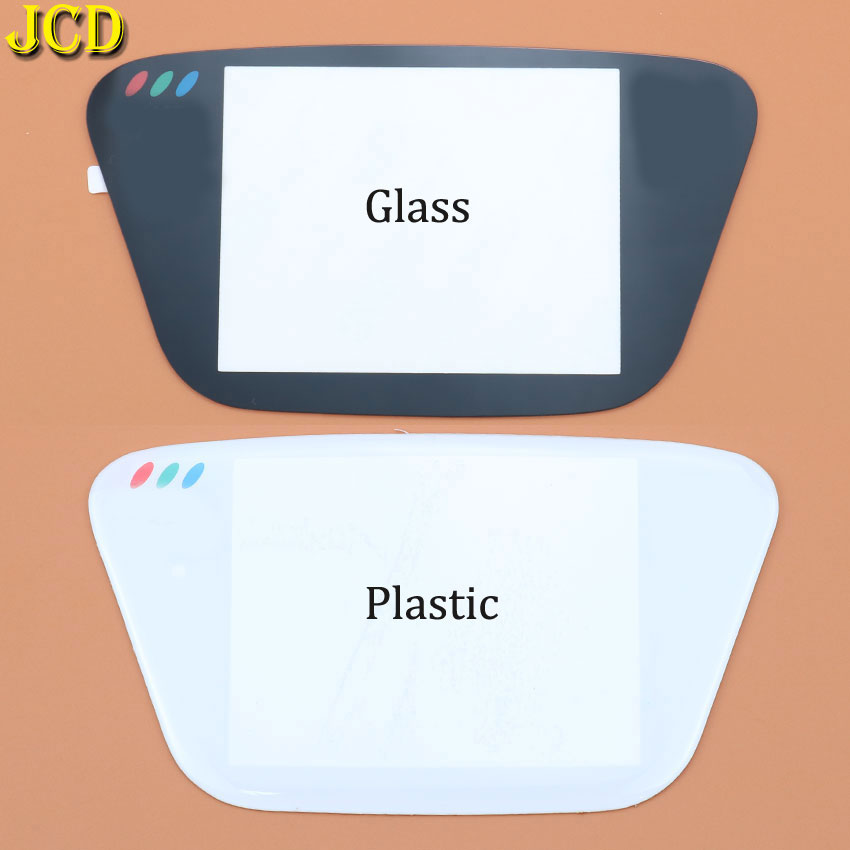JCD 1PCS Black Glass Screen Lens & White Plastic Screen Lens Screen Cover Lens For Sega Game Gear GG Screen Lens Protector