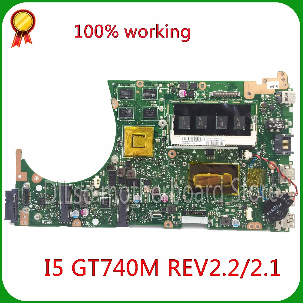 KEFU S551LB For ASUS S551LB S551LN S551LA GT740M Laptop Vivobook motherboard i5 CPU Test motherboard new motherboard for asus s551lb s551ln s551la r553l mainboard motherboard non integrated gt840m 2gb n15s gt s a2 with i7 4500 cpu sr16z tested