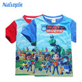 2017 New Summer Clothes for Boys Robot T-shirt for Kids Printed Tshirts 100% Cotton Short T-shirts Children Cartoon Clothing