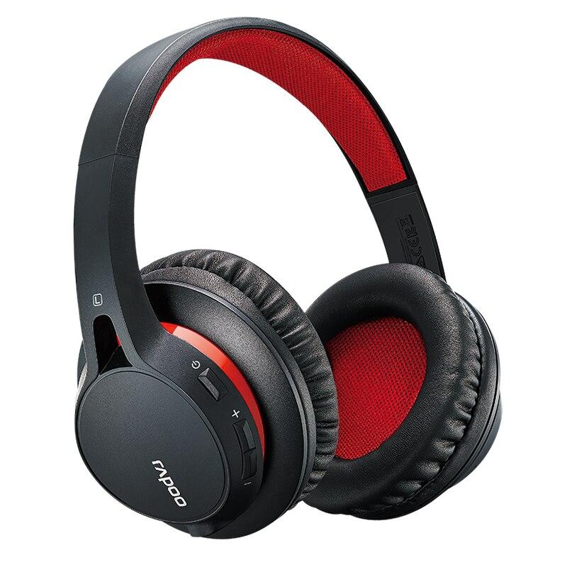 ФОТО Rapoo S200 Earphone Wireless Profession game Bluetooth Headset Stereo HiFi Headphone Microphone Build-in Subwoofer Headphones