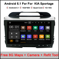 Android Quad core 9 inch for KIA Sportage 2010 2015 Car DVD radio navigation 2din DVD Sportager GPS Navigation wifi odb2 camera