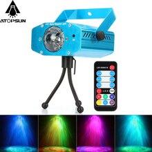 Big sale 1pcs Mini LED Laser Stage Light Pointer Disco Club Bar Party Pattern Lighting Projector Show Remote Laser Projector Stage Lights