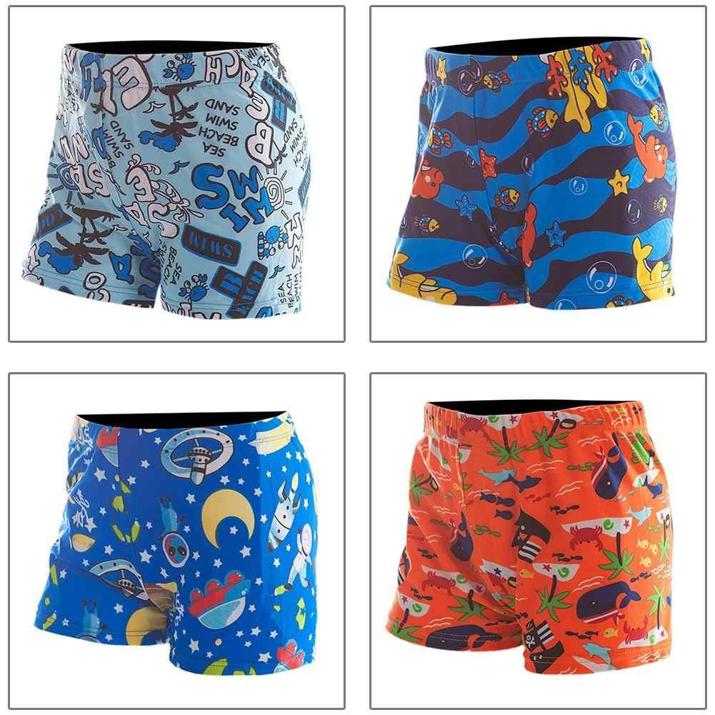 b3e5f1933e New Children's Cartoon Print Swimming Shorts Boys Fashion Loose Elastic  Waist Mid Pants Kids Quick-
