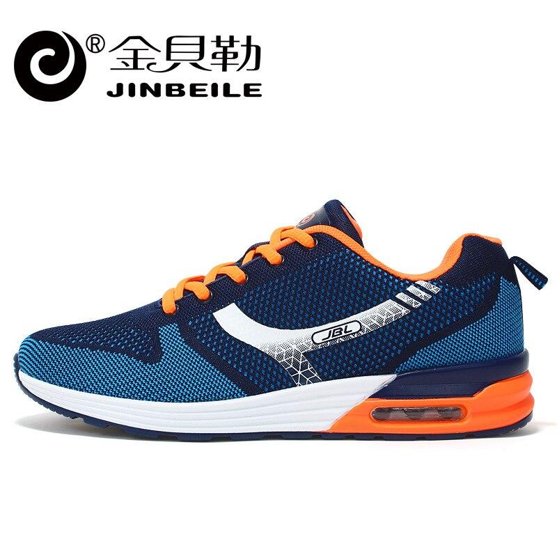 ФОТО Jinbei Hot Sale Pu+fabric Eva Le 2017 Autumn And Winter New Weaving Sports Men 's Air - Cushion Running Shoes Non Slip, Light.