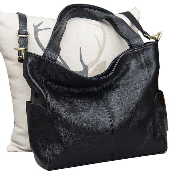 2017 High Quality Soft Natural Leather Women Hobo Bag Designer Large Capacity S Handbag Leisure Shoulder