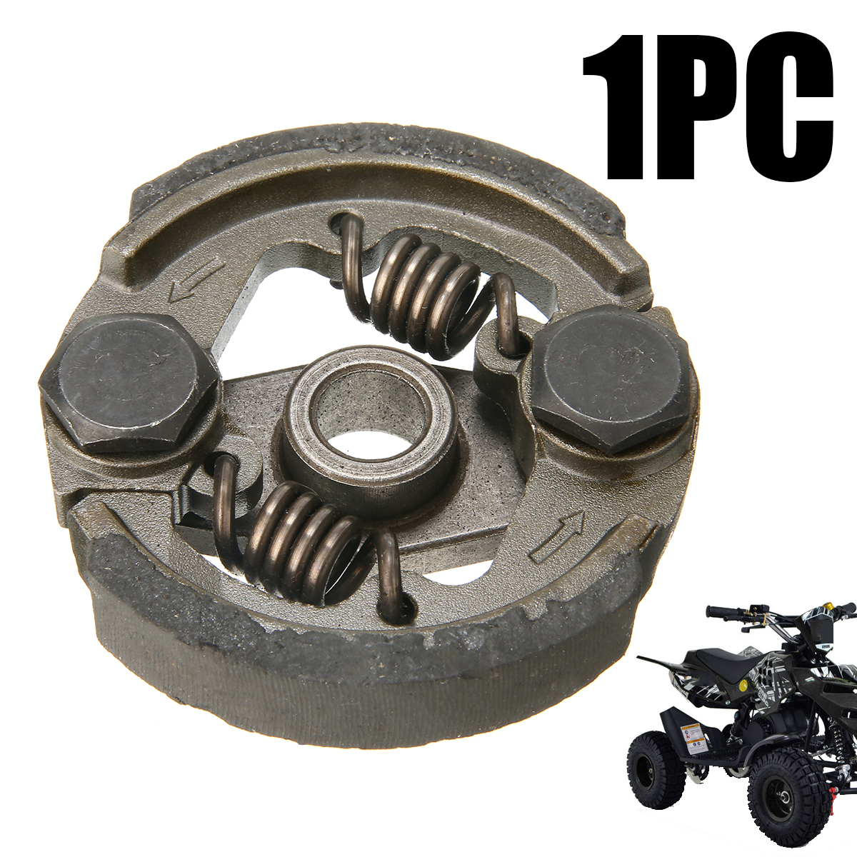 Mayitr 1PC 49cc Mini Moto Clutch Dirtbike Quad ATV Racing Bike Parts 2 Shoe 2 Spring Fits Cranks With OR Without Key Ways