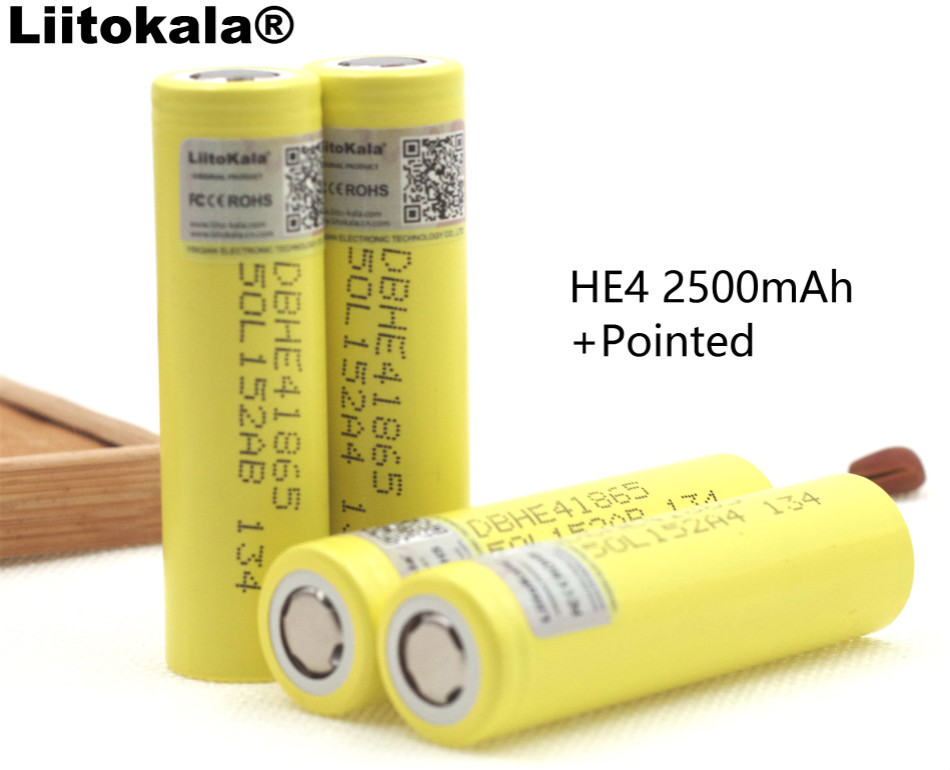 6PCS Liitokala New HE4 DBHE41865 2500 mAh 18650 Lithium Battery 3.7V 20A Electronic Power Charge Batteries for LG