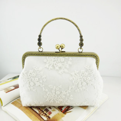 Women Diy handbag lace decoration with metal clasp Women's Evening Bags