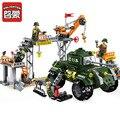 Enlighten 396 unids ciudad serie militar de combate swat policía modelo montaje de bloques de construcción ladrillos niños juguetes educativos regalos