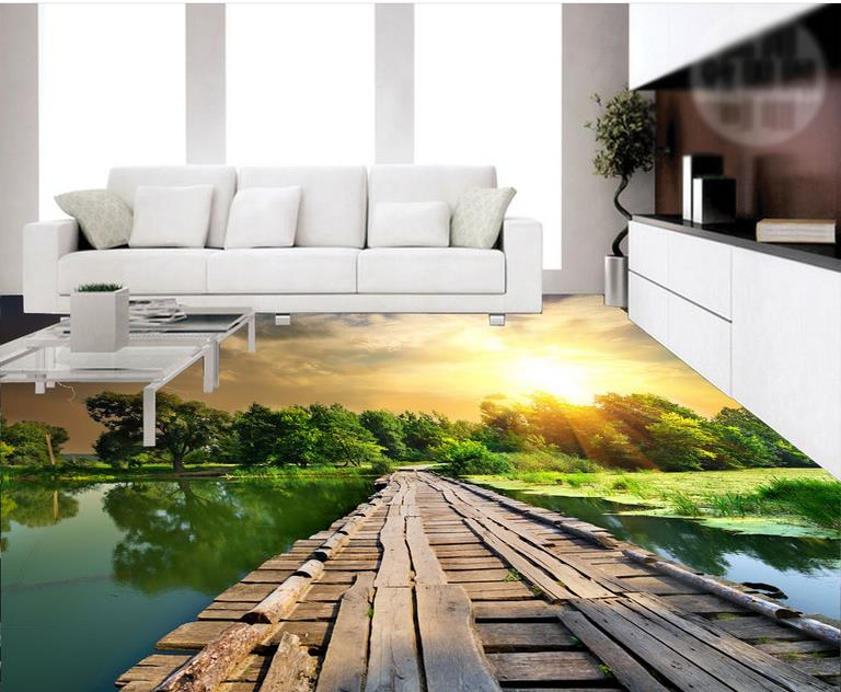 3D Flooring For Bathroom bathroom with kitchen living room Self adhesive Wallpaper Landscape Vinyl Flooring high quality 3d flooring vinyl custom 3d floor bathroom landscape non slip wear thickend self adhesive wallpaper