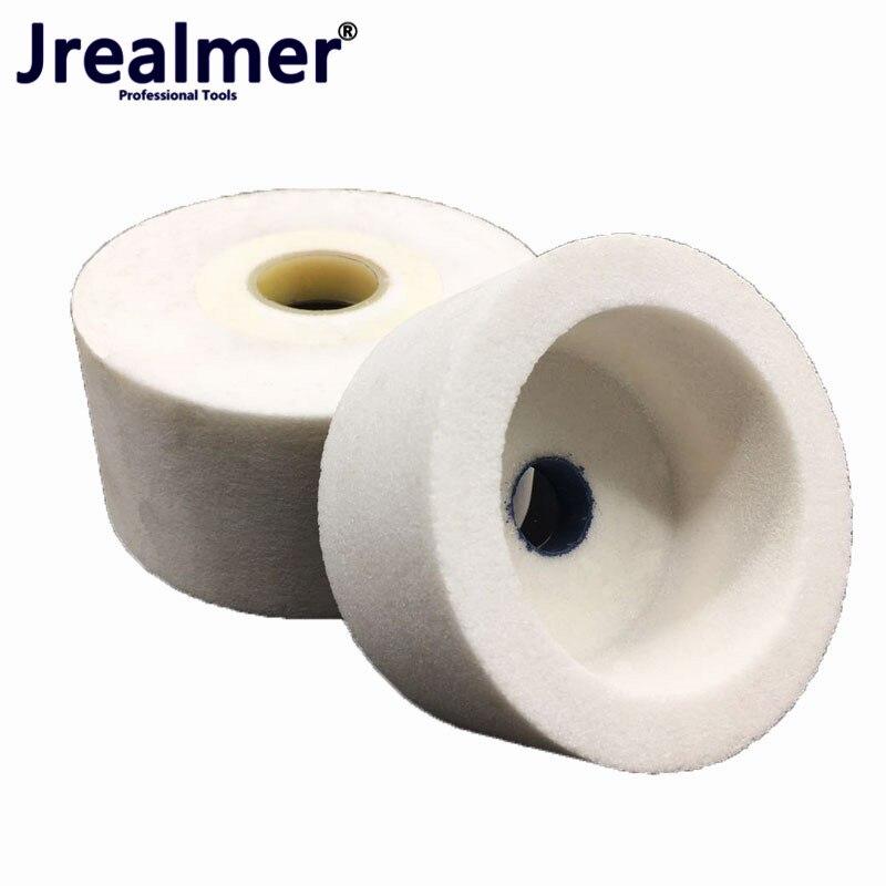 Aletler'ten Taşlama Tekerlekleri'de Jrealmer 1 adet Cylinderial Dia75/100/125mm Beyaz korindon taşlama yüksek kaliteli Beyaz korindon title=