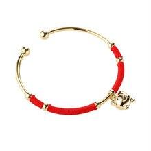 Модные ювелирные изделия корейский браслет с Красной веревкой