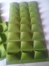 Neuheit 24 Taschen Vertikale Garten Pflanzer wand Polyester Hause Gartenblumentopf Pflanztaschen Wohnzimmer Indoor Wand Pflanzer