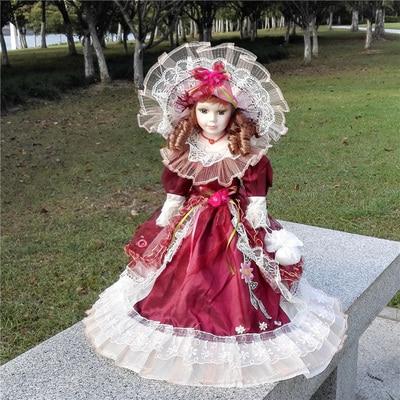 Hauteur 30 cm russie Noble porcelaine porcelaine poupée en céramique jouets de qualité supérieure cadeau d'anniversaire pour anniversaire noeud fille cadeaux