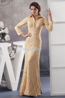 free shipping 2018 new design hot custom color/size gown cap sleeve v neck long sleeve mermaid mother of the groom dresses