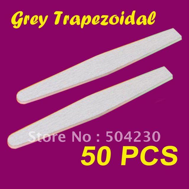 100/180 double side grey color diamond nail file manicure tool wholesales 50pcs/lot