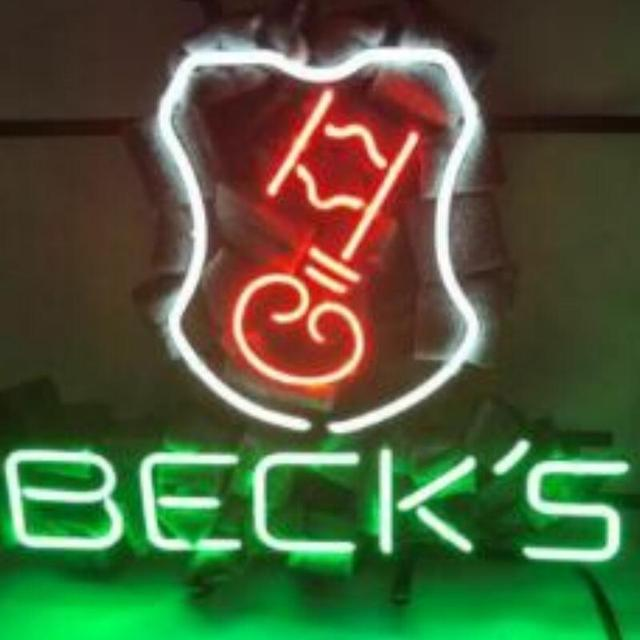 Custom Beck's Bier Key Glass Neon Light Sign Beer Bar