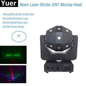 Image 1 - 3IN1 شعاع الليزر ستروب أضواء 16X3W تتحرك رئيس ضوء كرة القدم DMX512 أضواء الليزر DJ/ديسكو/بار/حفلة/عرض/مرحلة الإضاءة