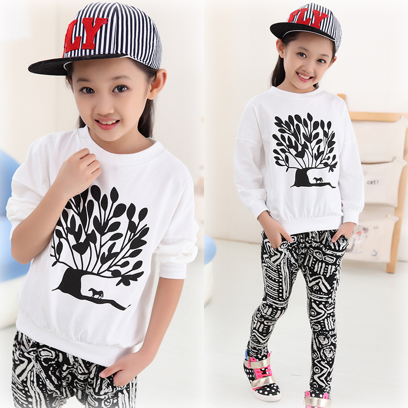 buy children streetwear hip hop clothes girls fashion suits long sleeve t shirt. Black Bedroom Furniture Sets. Home Design Ideas