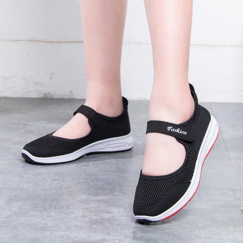 Plus Mary Mujeres Verano Tamaño 2019 41 Malla Jane Planos Zapatos Suelas N643 Zapatillas De Aire Goma Mujer gris Negro rojo púrpura 35 EqaqwdO0r