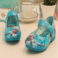 2017 new Girls Elsa Sandals Princess Elsa Shoes Printed PU Leather Shoe Girls Party Shoes Sandalia Infantil Size 21~36 with