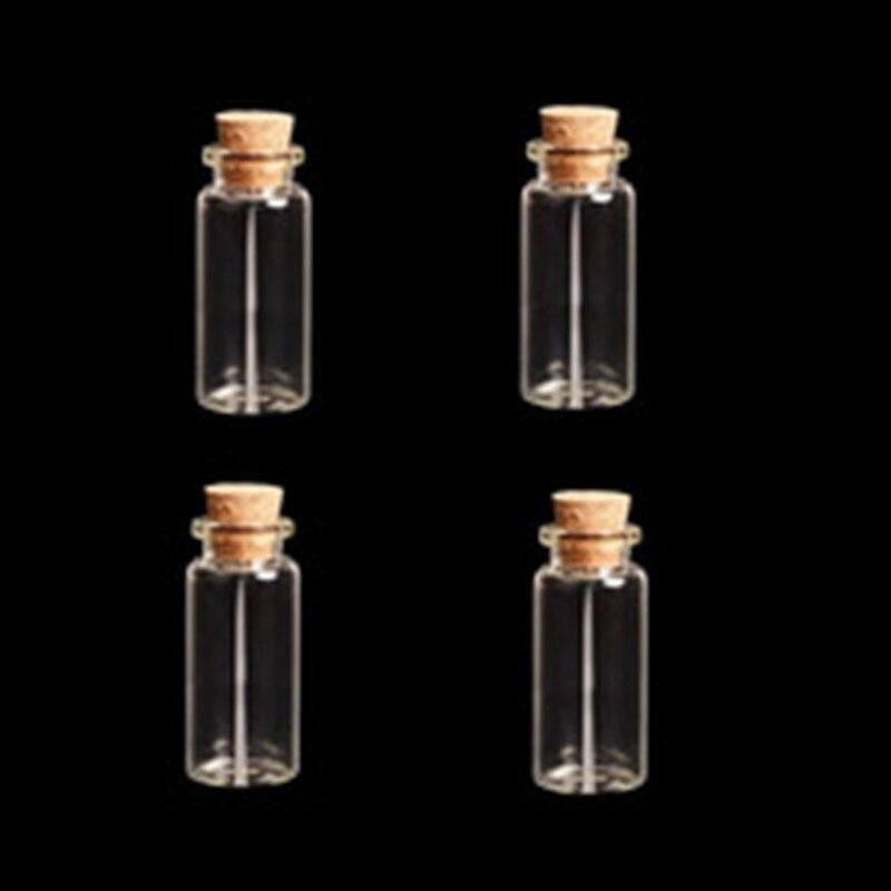 43 22mm Cork Wood Mini Glass Bottles 20pcs Plastic Stopper