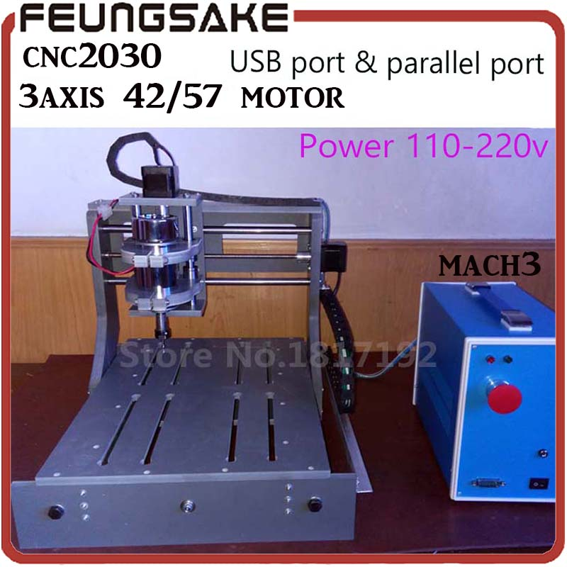 CNC 2030 mini milling 3 axis 42step motor,cnc engraving machine 2030 USB mini cnc router CNC USB Controller/parallel port eur free tax cnc 6040z frame of engraving and milling machine for diy cnc router