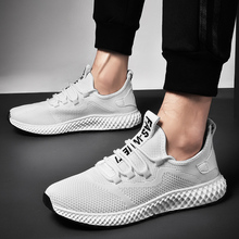 Flying woven ultralight running shoes outdoor sports shock absorption