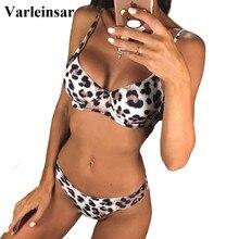 New Sexy Leopard 2019 Bikini Women Swimwear Female Swimsuit Two-pieces Bikini set Underwire Bather Bathing Suit Swim Wear V872